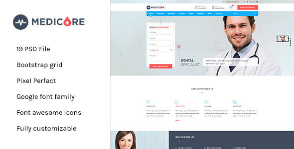 ThemeForest Medicare Medical & Health PSD Template 11510854