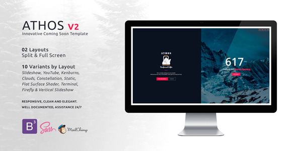 ThemeForest ATHOS V2 Innovative Coming Soon Template 11250109