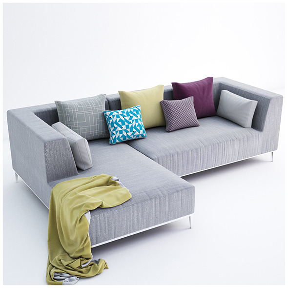 Velvet collection sofa - 3DOcean Item for Sale