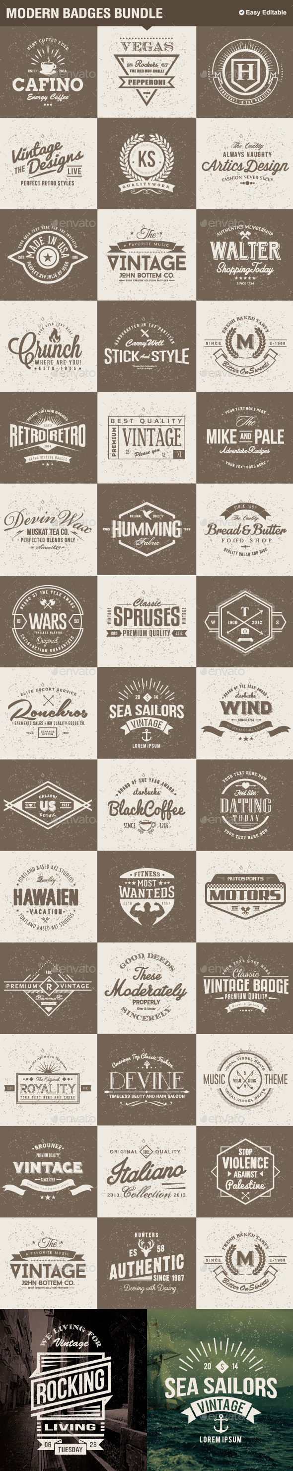 GraphicRiver Modern Badges Big Bundle 11511441