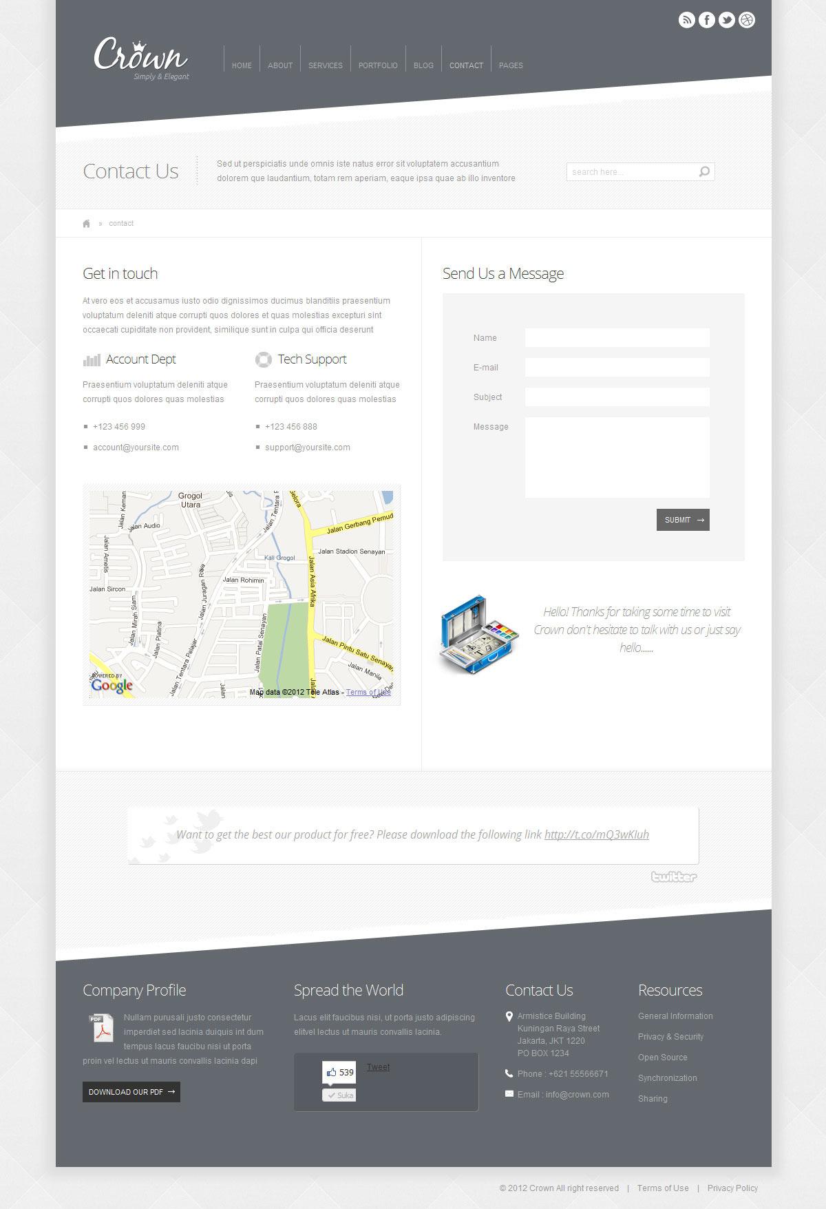 Crown - Modern Minimalist Wordpress Theme