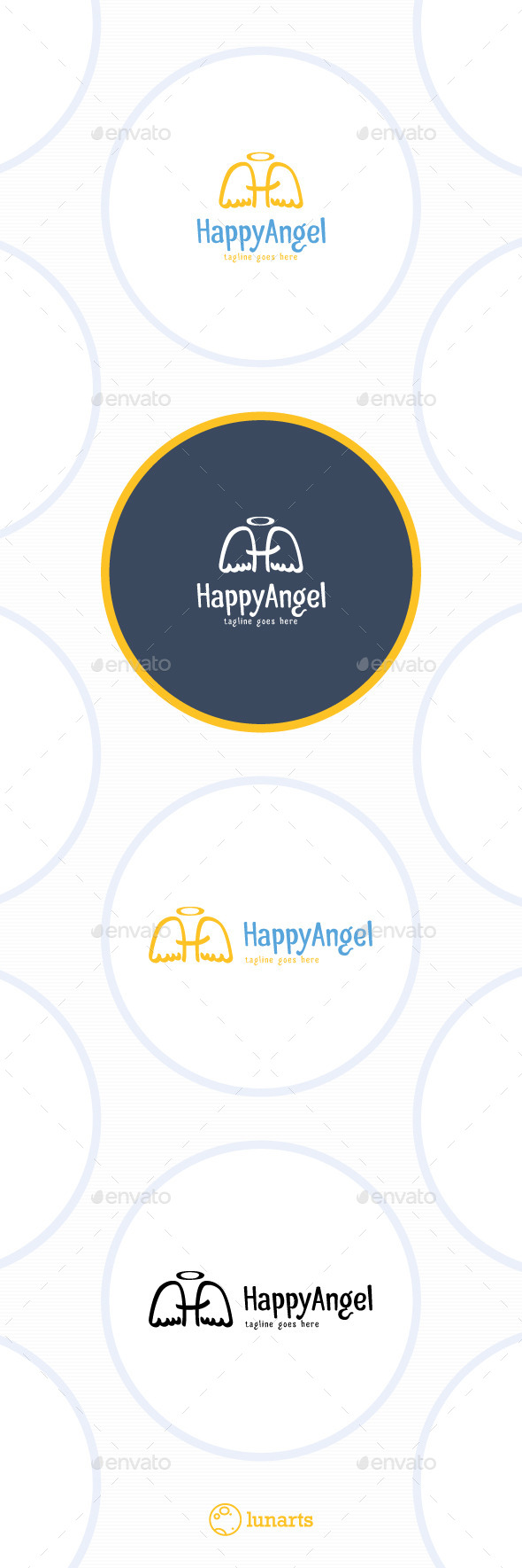 GraphicRiver Happy Angel Logo Letter H 11511727