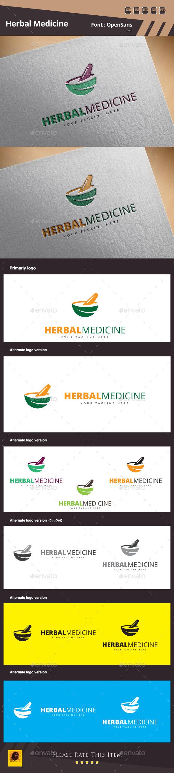 GraphicRiver Herbal Medicine Logo Template 11511795