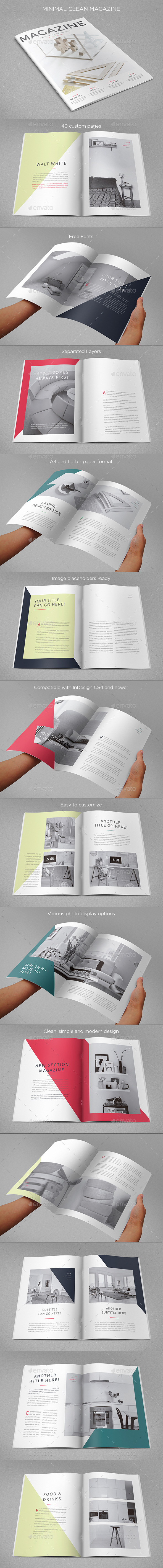GraphicRiver Minimal Clean Magazine 11511967