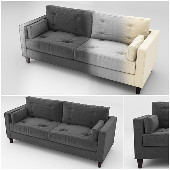 Sam sofa - 3DOcean Item for Sale