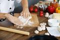 Cook prepare pizza dough - PhotoDune Item for Sale
