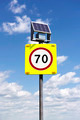 Road sign with lighting and solar powered - PhotoDune Item for Sale
