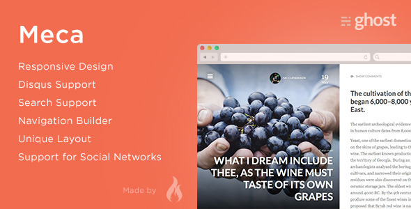 ThemeForest Meca Premium Ghost Theme 11512352