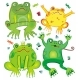 Cute frogs set - GraphicRiver Item for Sale