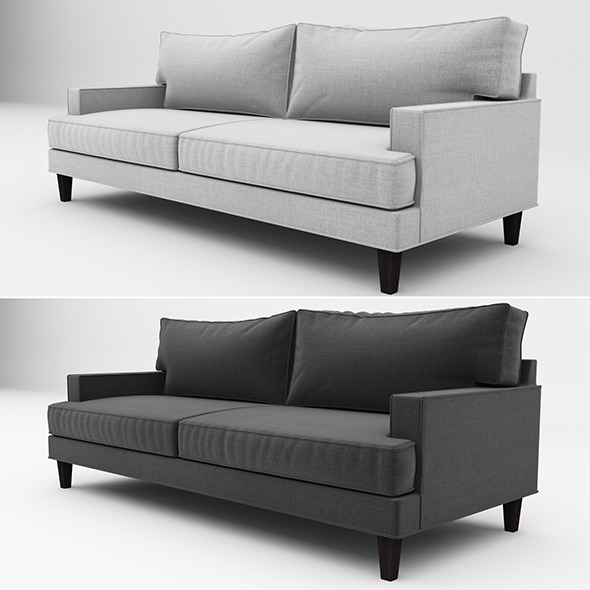 Ramey sofa 02 - 3DOcean Item for Sale