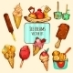 Ice Cream Sketch Colored - GraphicRiver Item for Sale
