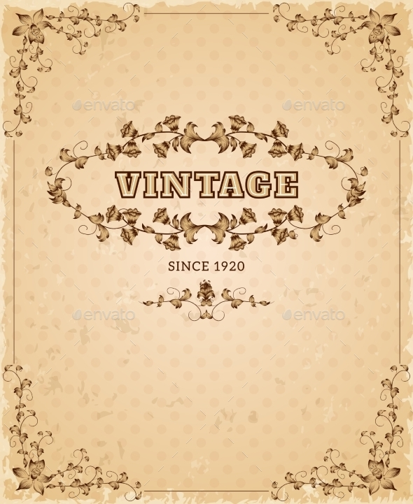 GraphicRiver Ornate Retro Vintage Poster 11512571