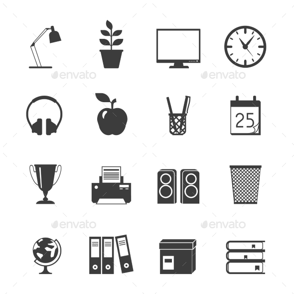 GraphicRiver Room Icons Set 11512595