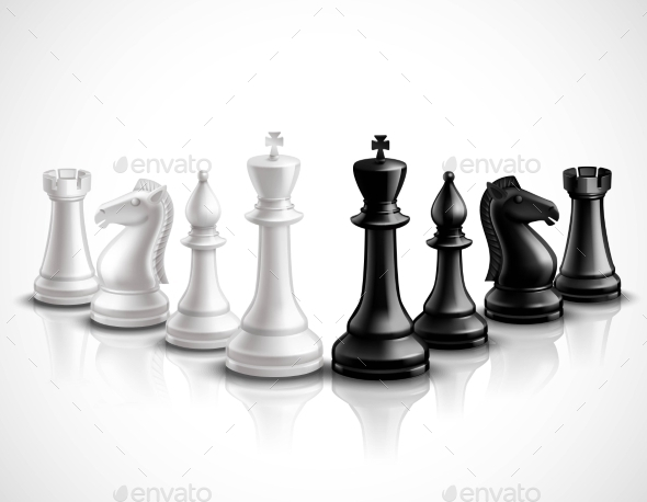 GraphicRiver Chess Pieces Illustration 11512614