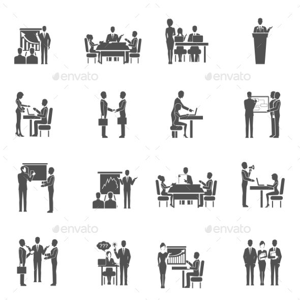 GraphicRiver Business Training Icons Set 11512649