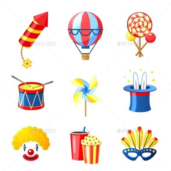 GraphicRiver Carnival Icons Set 11512664