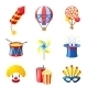 Carnival Icons Set - GraphicRiver Item for Sale