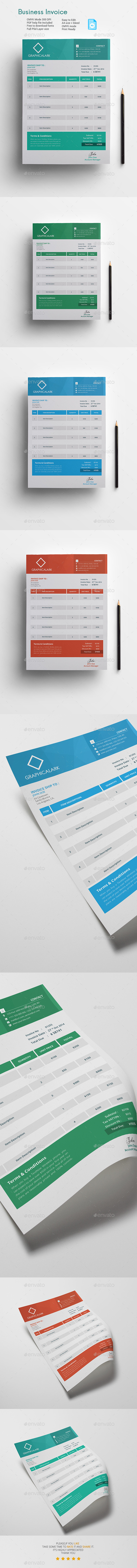 GraphicRiver Business Invoice Template 11427904