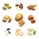 Nuts Realistic Set - GraphicRiver Item for Sale