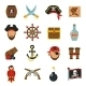 Pirate Icons Set Flat - GraphicRiver Item for Sale