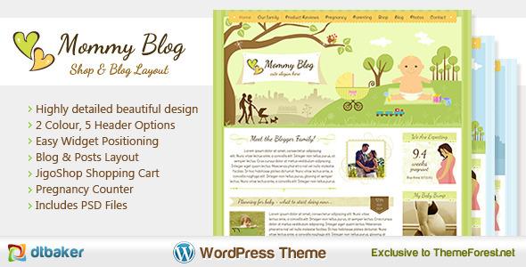 Mommy Blog - Premium WordPress Jigoshop Theme