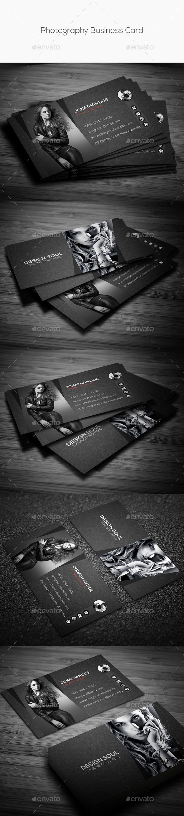 GraphicRiver Photography Business Card 11513035