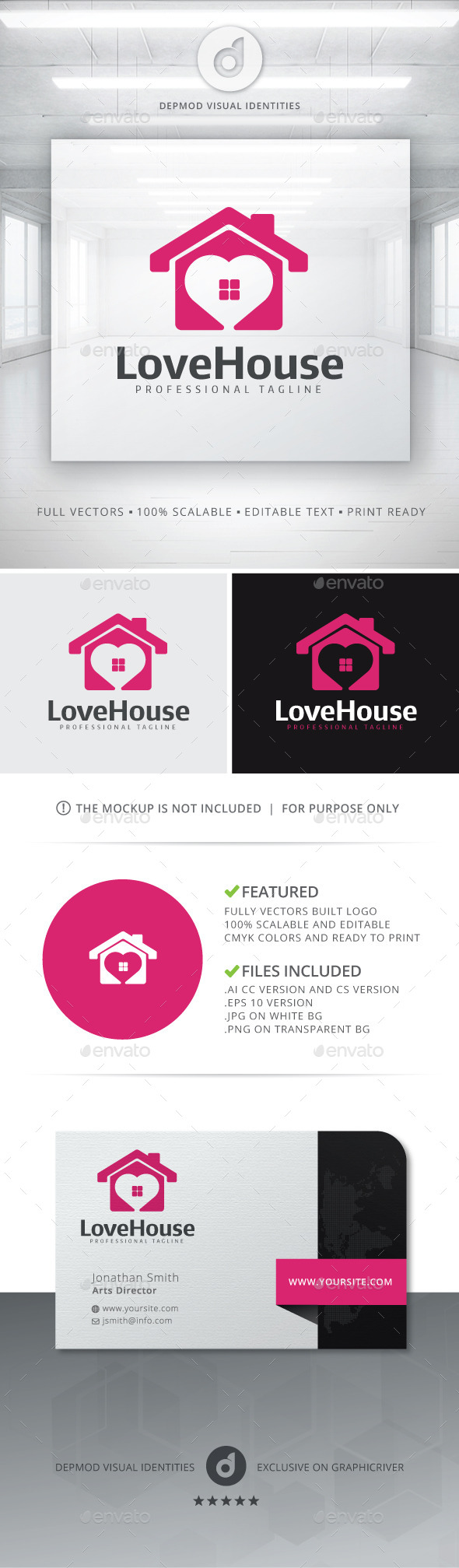 GraphicRiver Love House Logo 11513053