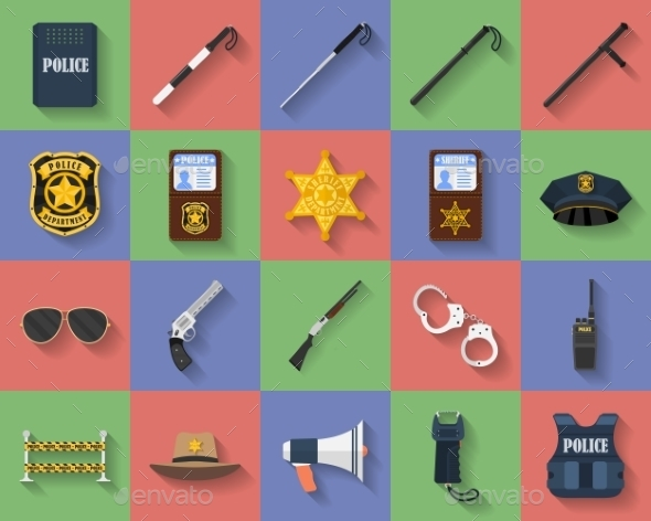 GraphicRiver Icon Set of Police Regimentals 11513163