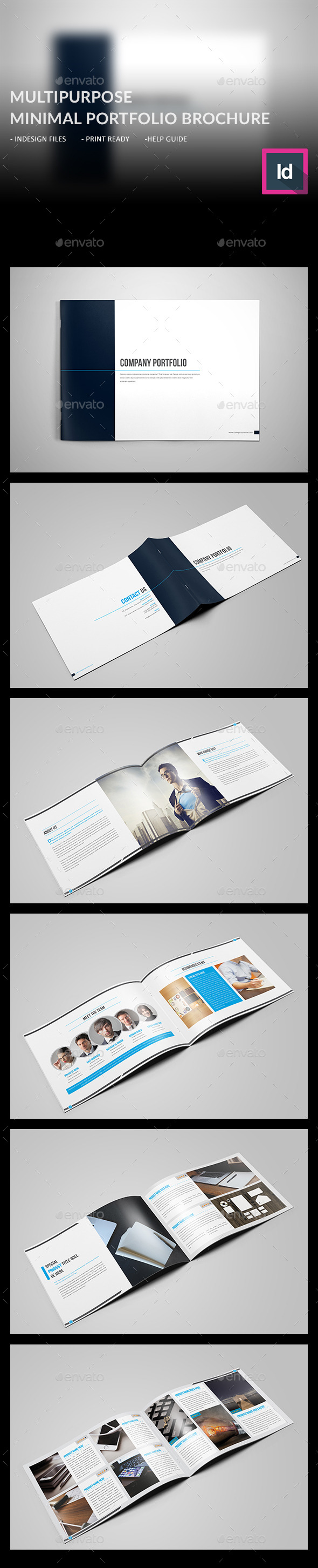 GraphicRiver Minimal Multipurpose Portfolio Brochure 11513371