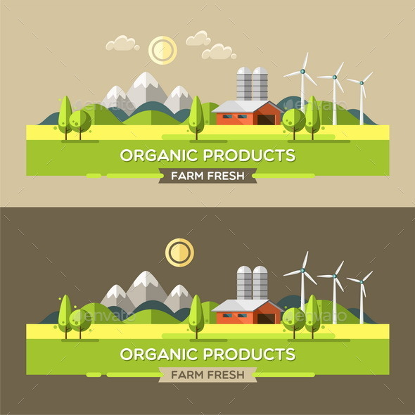 GraphicRiver Farm Fresh Organic Products 11513427
