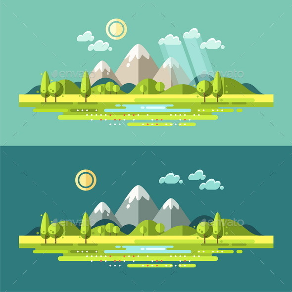 GraphicRiver Flat Nature Landscape Illustration 11513502