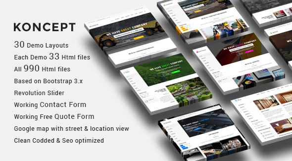 ThemeForest Koncept HTML5 Multi-Concept Template 11454129