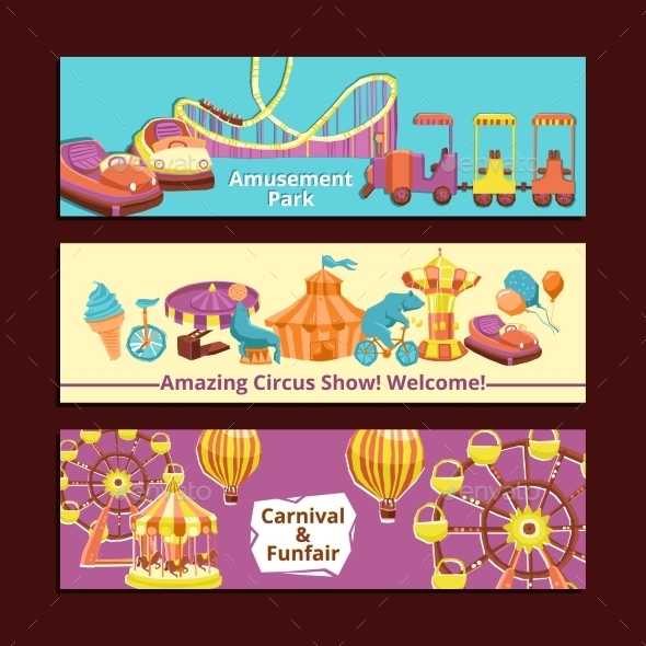 GraphicRiver Amusement Park Banners 11513754