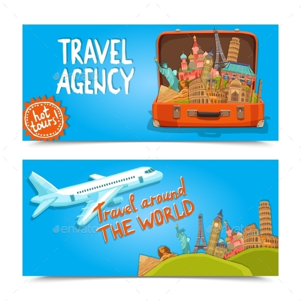 GraphicRiver Around The World Travel Agency Horizontal Banners 11513766