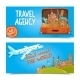 Around The World Travel Agency Horizontal Banners - GraphicRiver Item for Sale