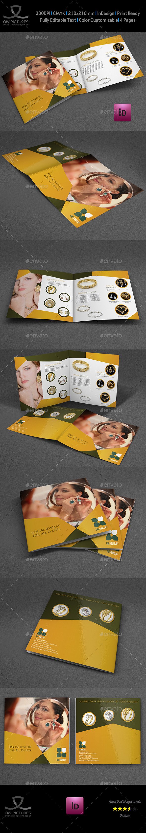 GraphicRiver Jewelry and Accessories Bi-Fold Catalog Brochure 11513770