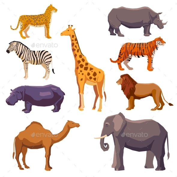 GraphicRiver Africa Animal Decorative Set 11513780