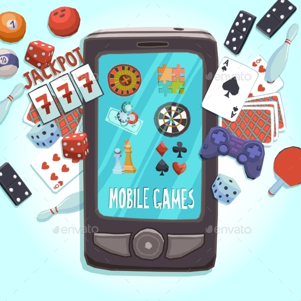 GraphicRiver Mobile Phone Games Concept 11513787