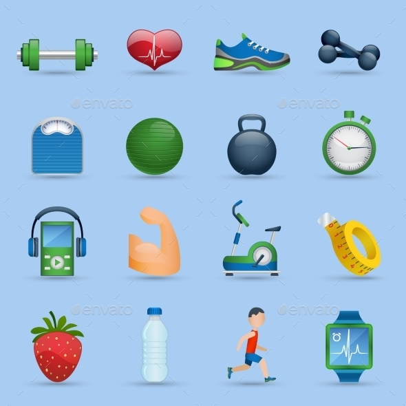 GraphicRiver Fitness Icons Set 11513815