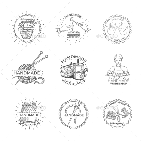 GraphicRiver Sketch Handmade Label 11513867