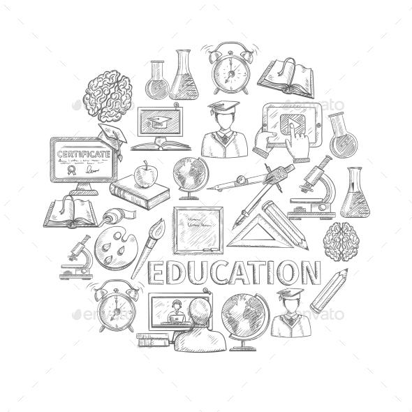 GraphicRiver Education Concept Sketch 11513871