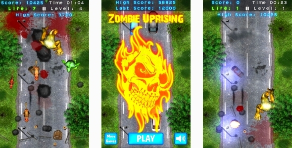 Zombie Uprising - HTML5 Mobile game (Capx)