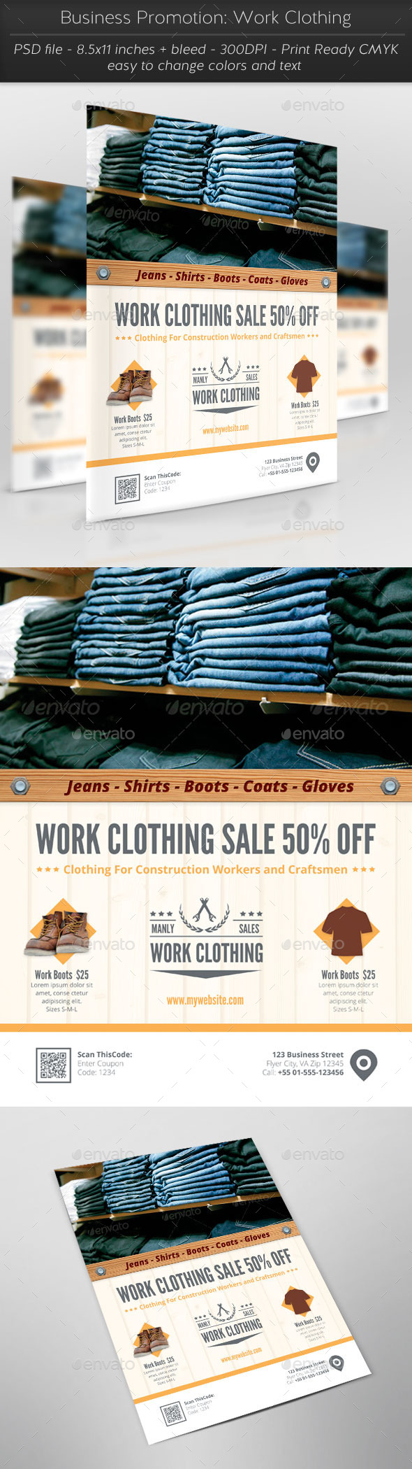 GraphicRiver Business Promotion Work Clothing 11514111