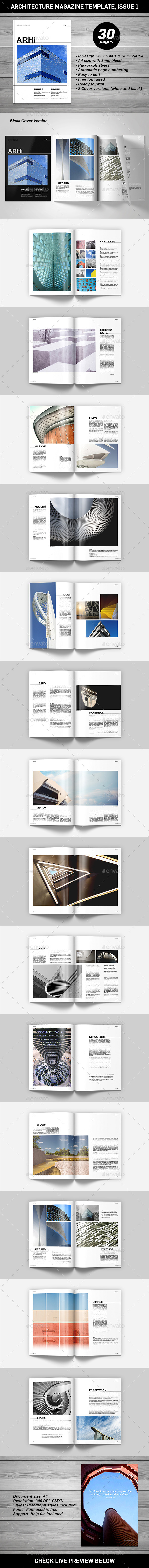 GraphicRiver Architecture Magazine Template 11432387