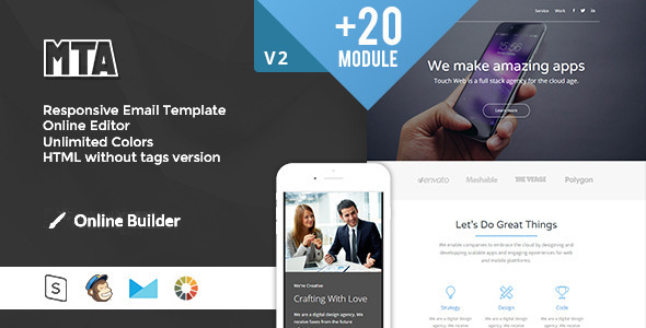 ThemeForest MTA Modern Email Template & Online Access 11452726