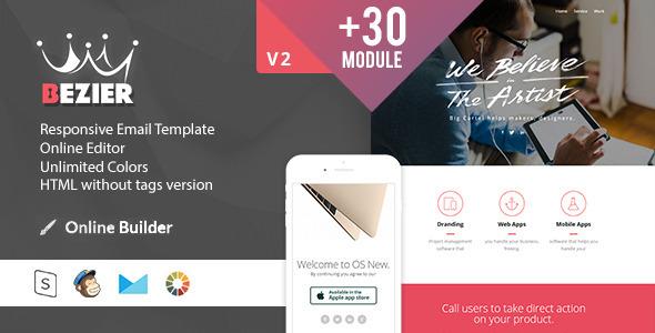 ThemeForest BEZIER Modern Email Template & Online Access 11452145