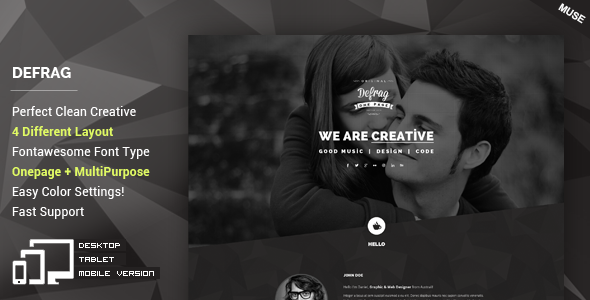 ThemeForest Defrag Personal & Portfolio Muse Template 11514644