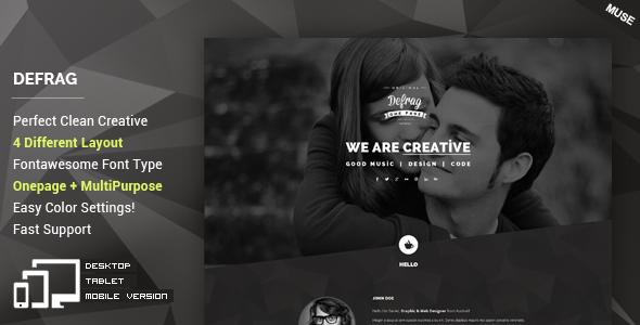 Defrag - Personal & Portfolio Muse Template