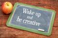 Wake up and be creative on blackboard - PhotoDune Item for Sale