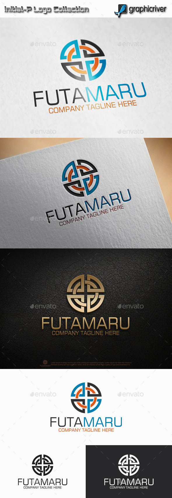 GraphicRiver Futa Maru Double Circle Logo 11514672